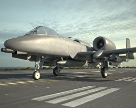 3D model of Fairchild Republic A-10 Thunderbolt II