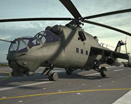 3D model of Mil Mi-24