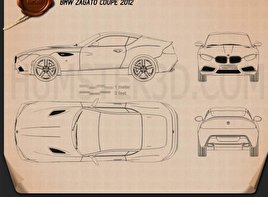 BMW Zagato Coupe 2012 Blueprint