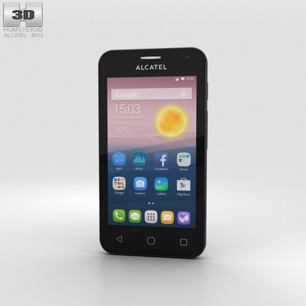 3D model of Alcatel OneTouch Pixi First Silver