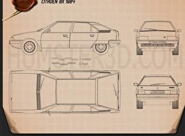 Citroen BX 1984 Blueprint