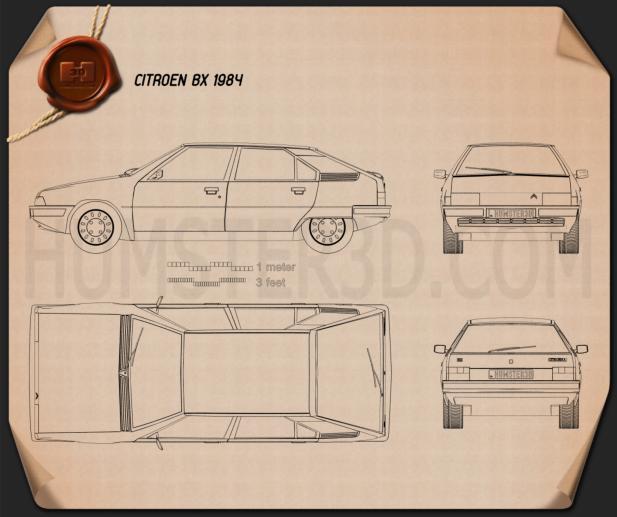 Citroen BX 1984 Blueprint
