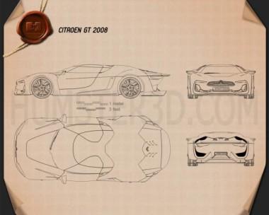 Citroen GT 2008 Blueprint