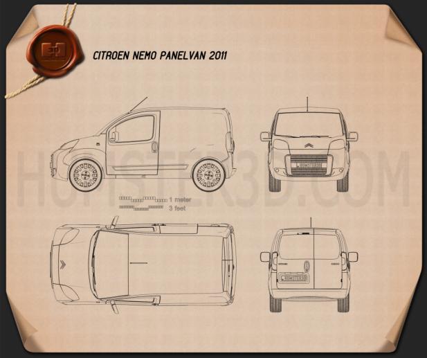 Citroen Nemo Panel Van 2011 Blueprint
