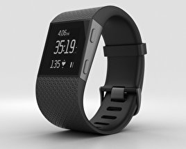 3D model of Fitbit Surge Black