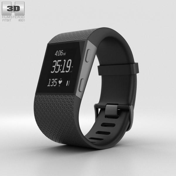 Fitbit Surge Black 3D model