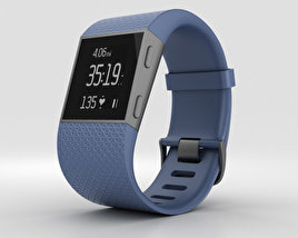 3D model of Fitbit Surge Blue