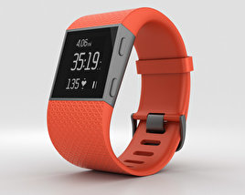 3D model of Fitbit Surge Tangerine