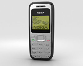 3D model of Nokia 1200 Black