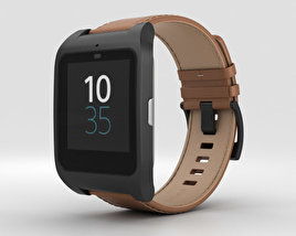 3D model of Sony SmartWatch 3 SWR50 Leather Brown