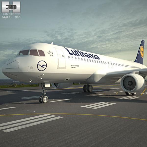 Airbus A320 3D model