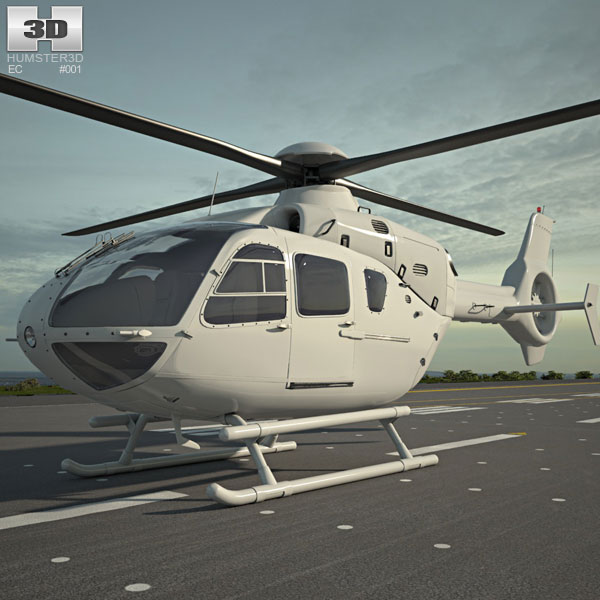 3D model of Eurocopter EC135