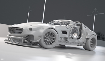 Mercedes AMG GT 2080 clay