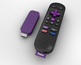 3D model of Roku Streaming Stick