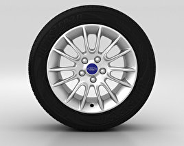 3D model of Ford Mondeo Wheel 16 inch 002