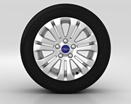3D model of Ford Mondeo Wheel 16 inch 003