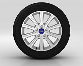 3D model of Ford Mondeo Wheel 16 inch 004