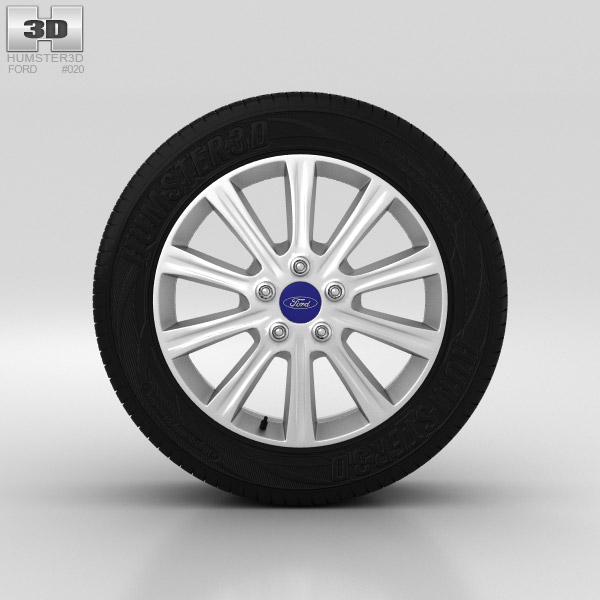 Ford Mondeo Wheel 16 inch 004 3d model