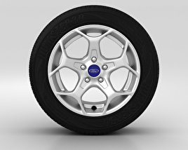 3D model of Ford Mondeo Wheel 16 inch 006