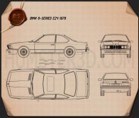 BMW 6 Series (E24) 1978 Blueprint