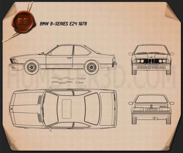 BMW 6 Series (E24) 1978 Blueprint