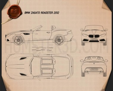 BMW Zagato Roadster 2012 Blueprint