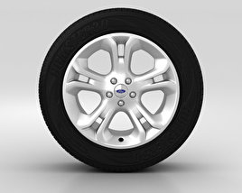 3D model of Ford Explorer Wheel 18 inch 001