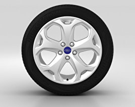 3D model of Ford Mondeo Wheel 18 inch 001