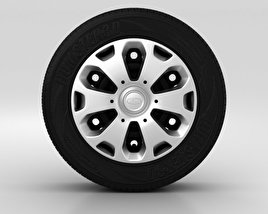 3D model of Ford Fiesta Wheel 14 inch 001