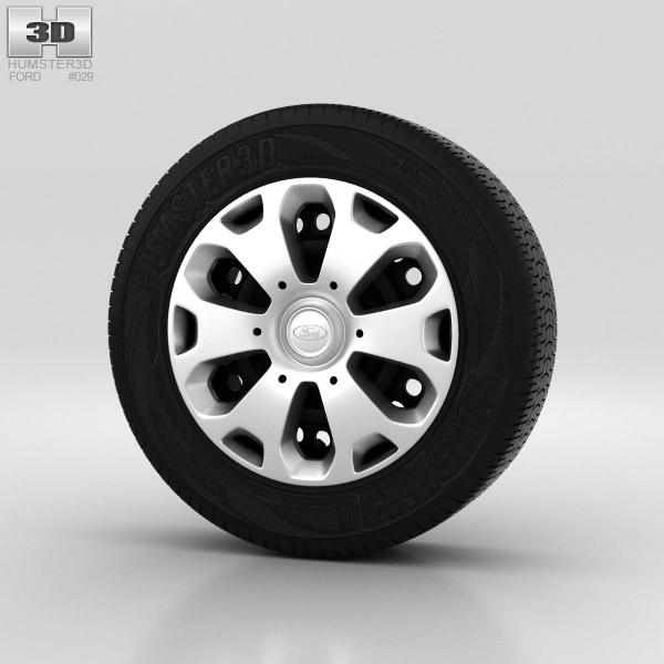 Ford Fiesta Wheel 14 inch 001 3d model