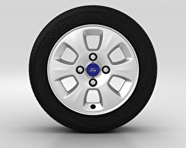3D model of Ford Fiesta Wheel 14 inch 002