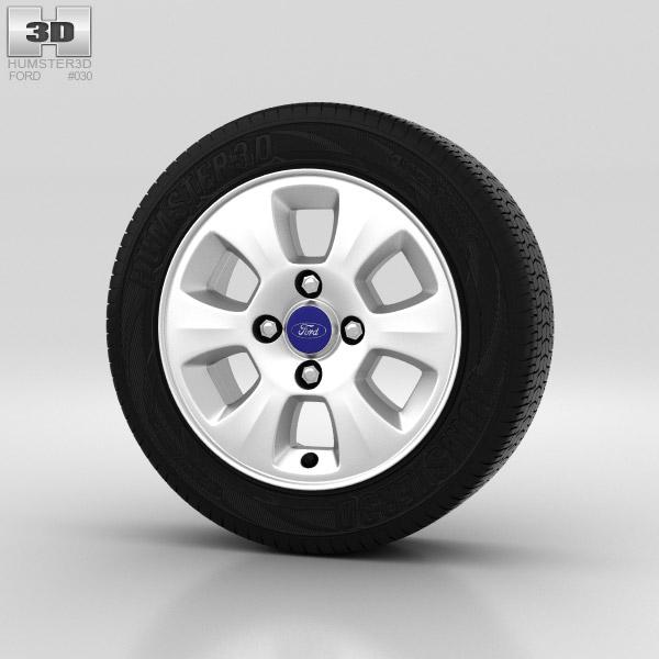 Ford Fiesta Wheel 14 inch 002 3d model
