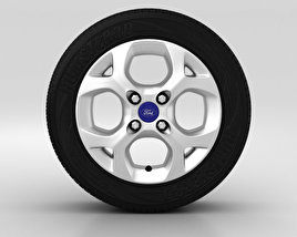 3D model of Ford Fiesta Wheel 15 inch 001