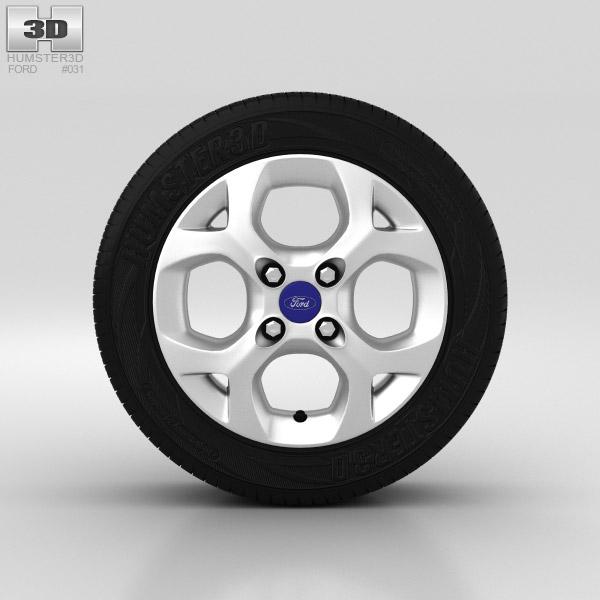 Ford Fiesta Wheel 15 inch 001 3D model