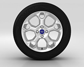 3D model of Ford Fiesta Wheel 15 inch 002