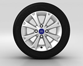 3D model of Ford Fiesta Wheel 15 inch 004