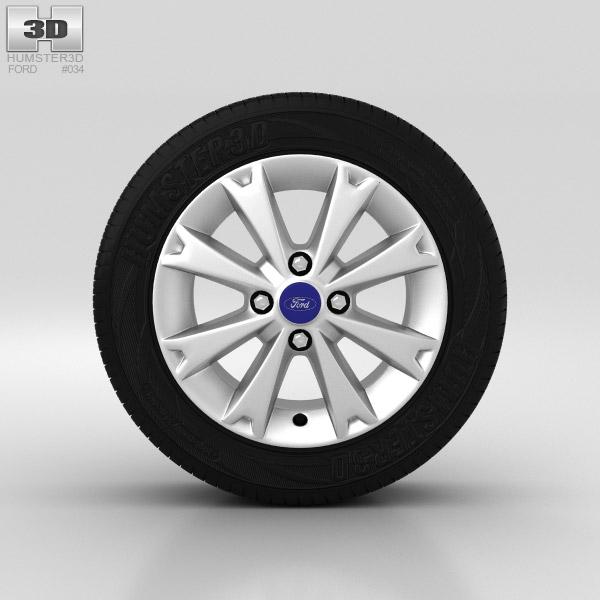 Ford Fiesta Wheel 15 inch 004 3D model