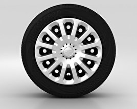 3D model of Ford Fiesta Wheel 15 inch 005