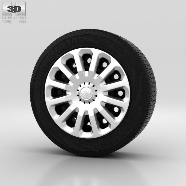 Ford Fiesta Wheel 15 inch 005 3d model