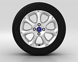 3D model of Ford Fiesta Wheel 16 inch 002