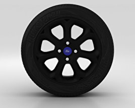 3D model of Ford Fiesta Wheel 16 inch 003