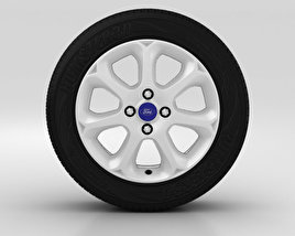 3D model of Ford Fiesta Wheel 16 inch 004