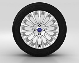 3D model of Ford Fiesta Wheel 16 inch 005