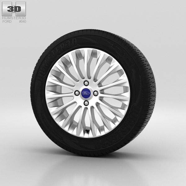 Ford Fiesta Wheel 16 inch 005 3d model