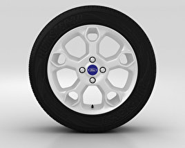 3D model of Ford Fiesta Wheel 17 inch 002