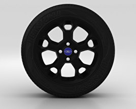 3D model of Ford Fiesta Wheel 17 inch 003