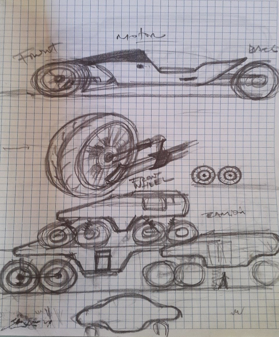 Futuristic concept of vehicle