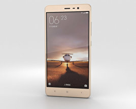 3D model of Xiaomi Redmi Note 3 Gold