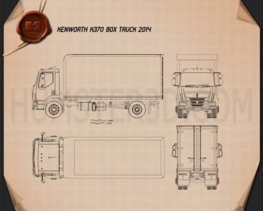 Kenworth K370 Box Truck 2014 Blueprint