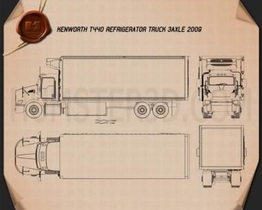 Kenworth T440 Refrigerator Truck 2009 Blueprint